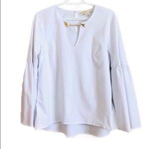 Michael Kors White Tunic  Bell Sleeve Shirt